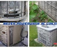 Never Power Wash AC Unit